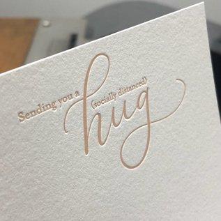 Fiore Press Sending you a (socially distanced) hug, Set/8 Letterpress Cards & Env.,