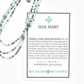 My Saint My Hero Morse Code Hail Mary Necklace