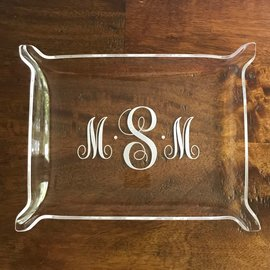 Engraved Acrylic Pinched Tray
