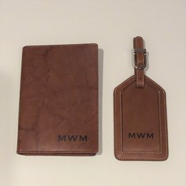 Personalized Leather Passport Case w/CC slots