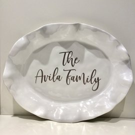 Beatriz Ball Personalized Havana Oval Platter