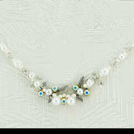 Firefly Petite Flora White Pearl Necklace