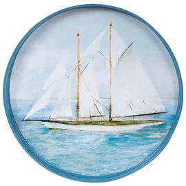 Rockflowerpaper Coco Tray 18in Round Summer Sail