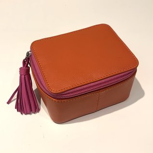 Personalized Leather Jewelry Case