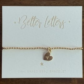 Better Letters 2mm Gold Bead BR wCharm