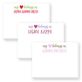 Sorority Dittie Notepad