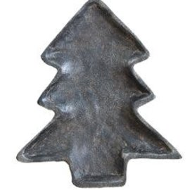 Creative Co-Op Rustic Iron Tree Dish, 7x8""