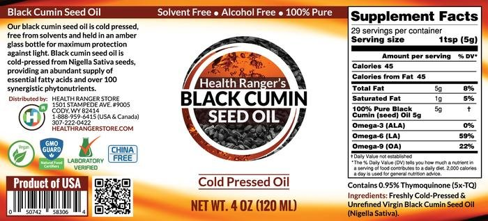 Health Ranger's Black Cumin Seed Oil