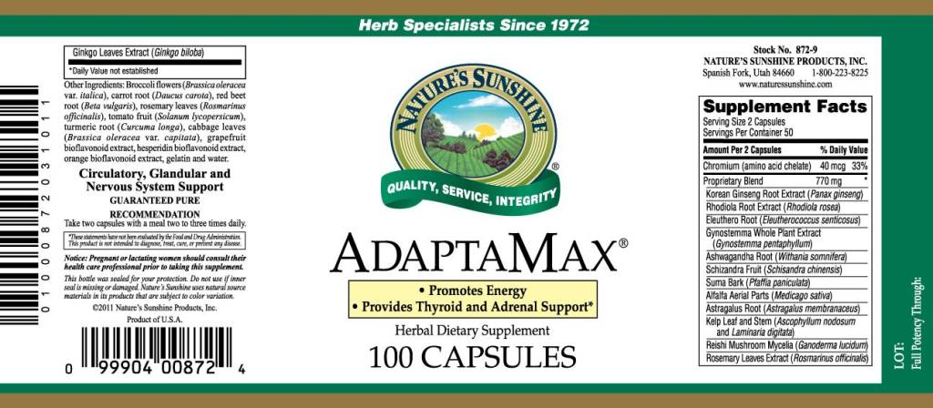 Nature's Sunshine Adaptamax (100 caps)