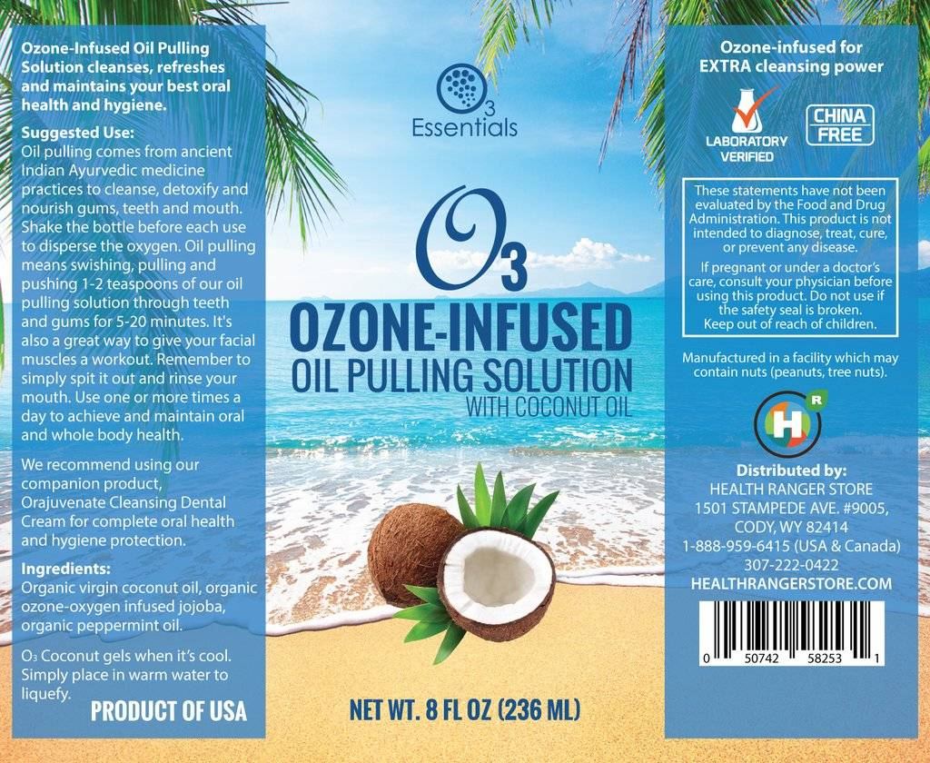 Health Ranger O3 Ozone-Infused Oil Pulling Solution 8 oz
