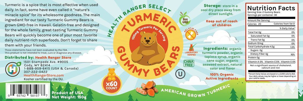 Health Ranger Health Ranger Select Turmeric Gummy Bears