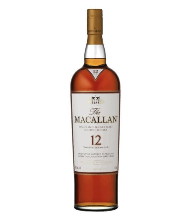 Macallan Sherry Oak 12 Year Scotch