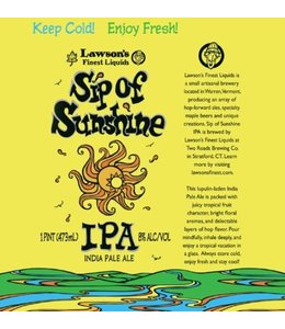 Lawson SIP of Sunshine IPA
