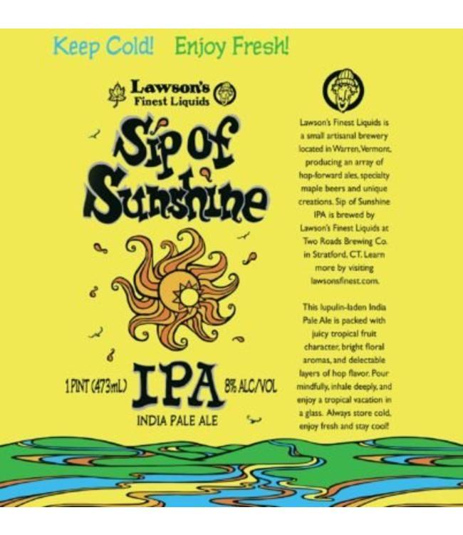 Lawson SIP of Sunshine IPA