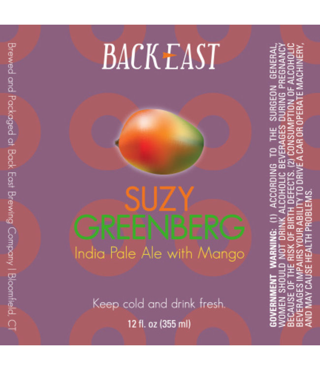 Back East Suzy Greenberg IPA