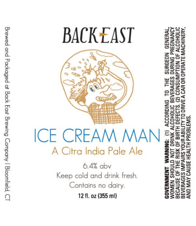 Back East Ice Cream Man IPA