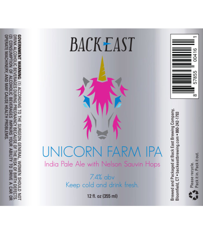 Back East Unicorn Farm IPA