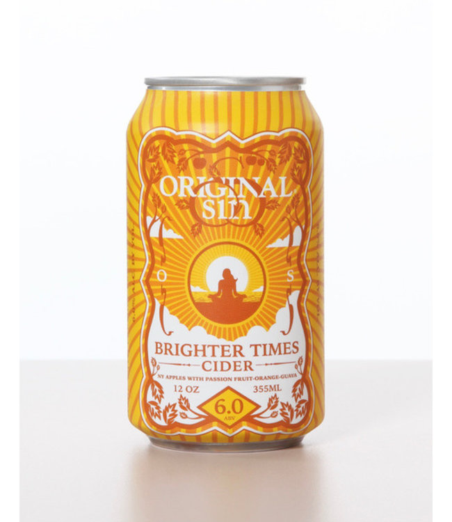 Original Sin Brighter Times Cider 12oz CAN