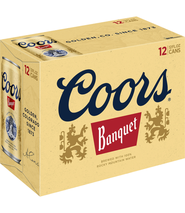 Coors Banquet 12 Pack Cans