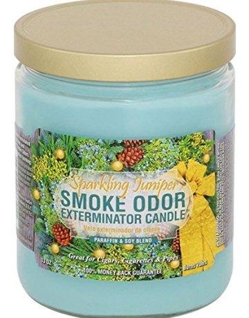 Smoke Odor Exterminator SPARKLING JUNIPER-CANDLE: SPARKLING JUNIPER SMOKE ODOR CANDLE