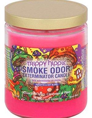 Smoke Odor Exterminator TRIPPY HIPPIE-CANDLE: TRIPPY HIPPIE SMOKE ODOR CANDLE
