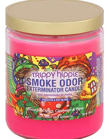 Smoke Odor Exterminator TRIPPY HIPPIE-CANDLE: TRIPPY HIPPIE SMOKE ODOR CANDLE