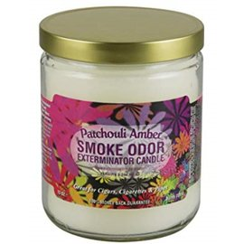 Smoke Odor Exterminator PATCHOULI AMBER-CANDLE: PATCHOULI AMBER SMOKE ODOR CANDLE
