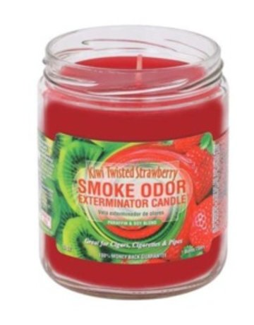 Smoke Odor Exterminator KIWI TWISTED STRAWBERRY-CANDLE: KIWI TWISTED STRAWBERRY SMOKE ODOR CANDLE