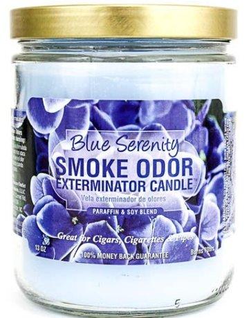 Smoke Odor Exterminator BLUE SERENITY-CANDLE: BLUE SERENITY SMOKE ODOR CANDLE