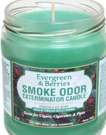 Smoke Odor Exterminator EVERGREEN BERRIES-CANDLE: EVERGREEN BERRIES SMOKE ODOR CANDLE