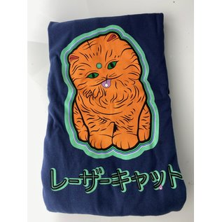 LAZER CAT-JAPAN-LS-L:  NAVY LONG SLEEVE L