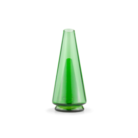Puffco PEAKLEAFGREEN: PUFFCO PEAK GLASS ATTACHMENT LEAF GREEN