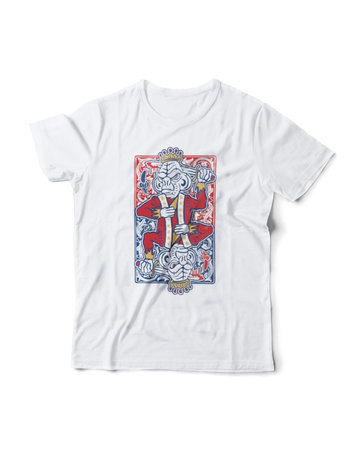 Coyle: Suicide King Short Sleeve White Shirt