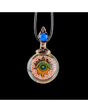 Takao Miyake TAKAO4: EYE PENDANT W/ RED & WHITE BACKGROUND