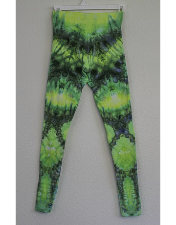 High Dyes HighDyes: XS High Rise Leggings Green and Yellow