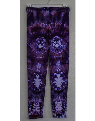 High Dyes HighDyes: Small Mid Rise Leggings Purple/Blue/White