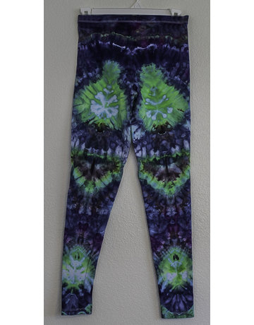 High Dyes HighDyes: Small Mid Rise Leggings Navy/Bright Green