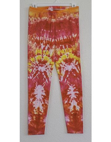 High Dyes HighDyes: Medium Mid Rise Leggings Pink/Orange/Yellow