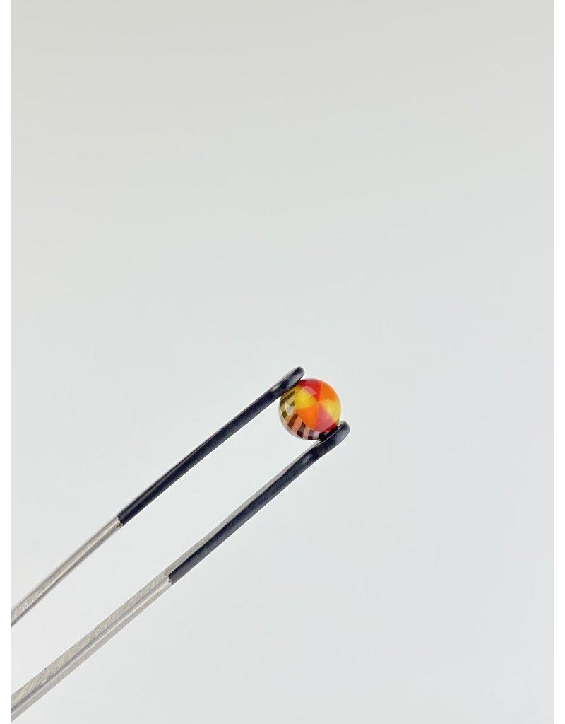 QUASAR GLASS Quasar Terp Pearl:Pinwheel Red/Orange/Yellow  Single
