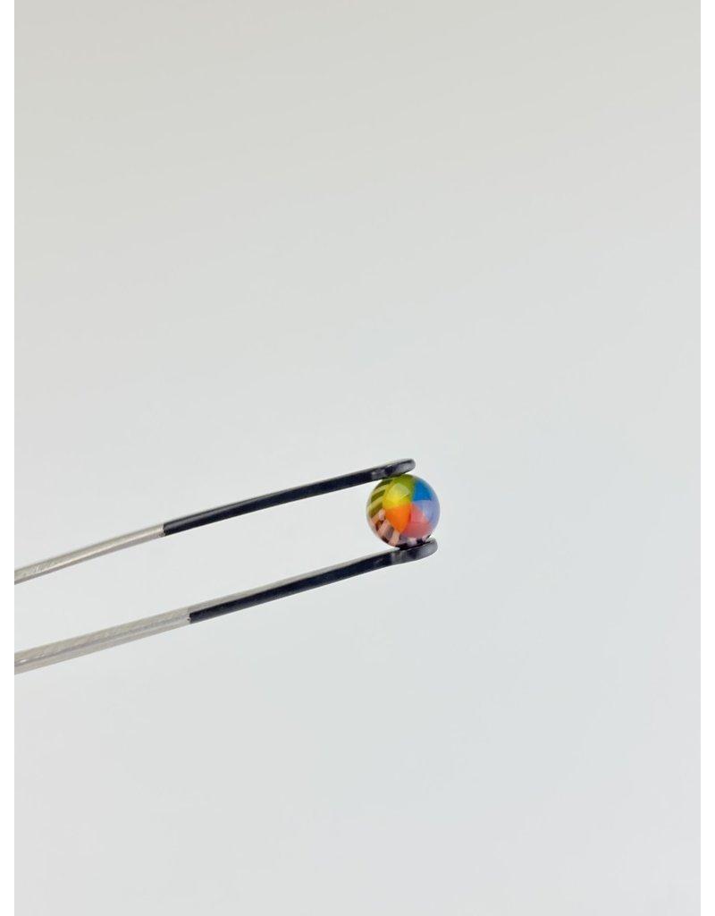 QUASAR GLASS Quasar Terp Pearl:Pinwheel Rainbow Single