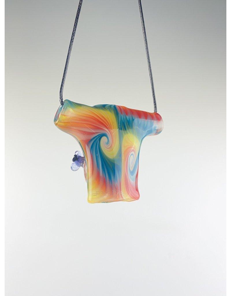 Joe Peters Pendant: R3G15 Honey Tie Dye Collab w/ Rainbow Millie