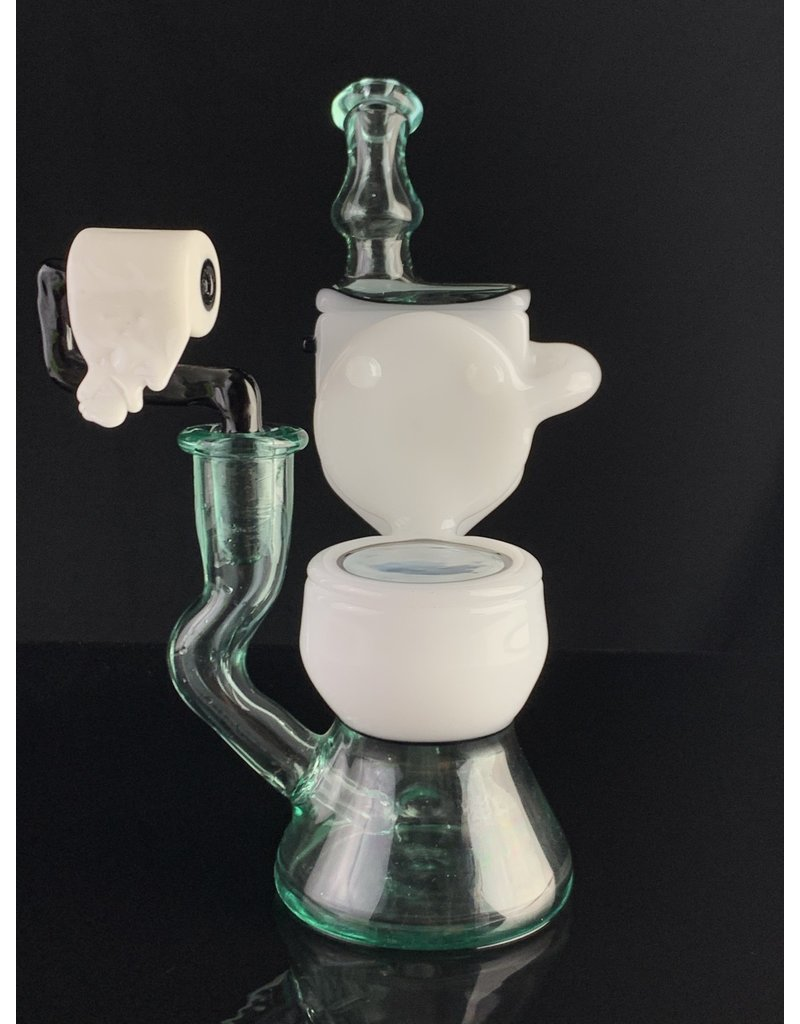 ZACHP2: WHITE AND BLUE TOILET RIG