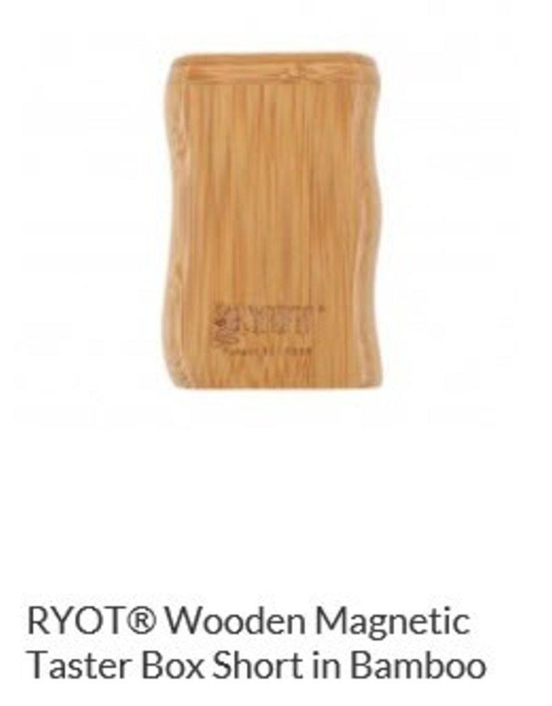 RYOT 2 Inch Bamboo Wood Dugout - Magnetic Poker Box From Ryot