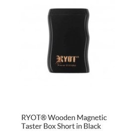 RYOT MPBSH-BLK: BLACK WOOD - - MAGNETIC POKER BOX - 2IN DUGOUT