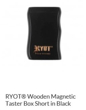 RYOT MPBSH-BLK: BLACK WOOD - - MAGNETIC POKER BOX - 2IN DUGOUT