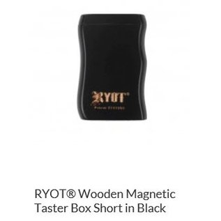 RYOT 2 Inch Black Wood Dugout - Magnetic Poker Box From Ryot