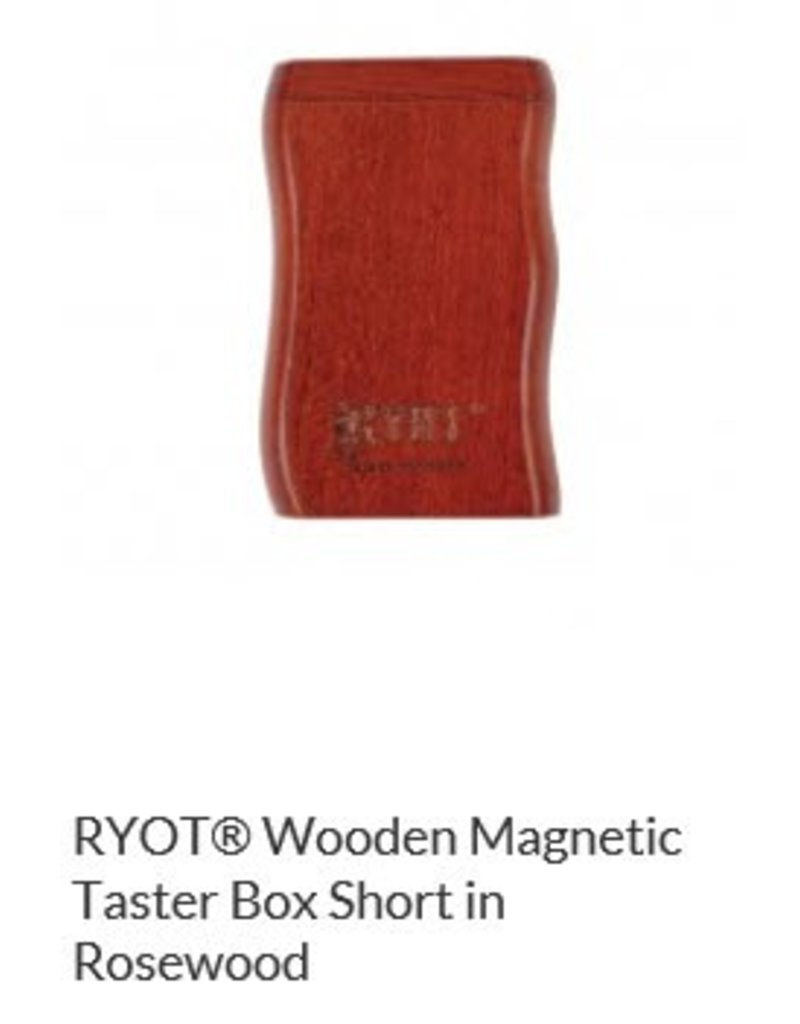 RYOT 2 Inch Rosewood Dugout - Magnetic Poker Box From Ryot