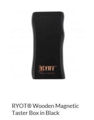 RYOT MPB-BLK: BLACK WOOD - MAGNETIC POKER BOX - 3IN DUGOUT