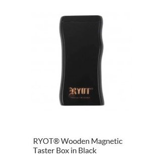 RYOT 3 Inch Black Wood Dugout - Magnetic Poker Box From Ryot