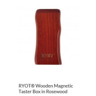RYOT 3 Inch Rosewood Dugout - Magnetic Poker Box From Ryot